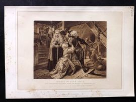 Archer & Blackie 1880 Antique Print. Arrest of Alice Lisle
